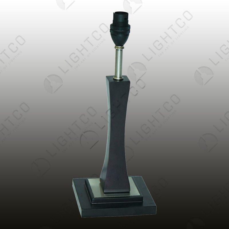 TABLE LAMP SQUARE BASE WOOD