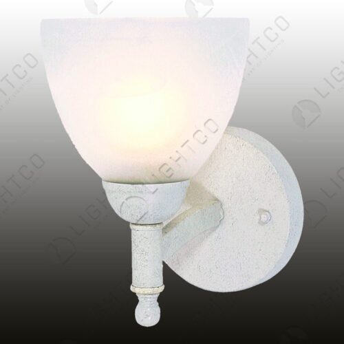 WALL LIGHT SINGLE ARM WITH ALABASTER GLASS
