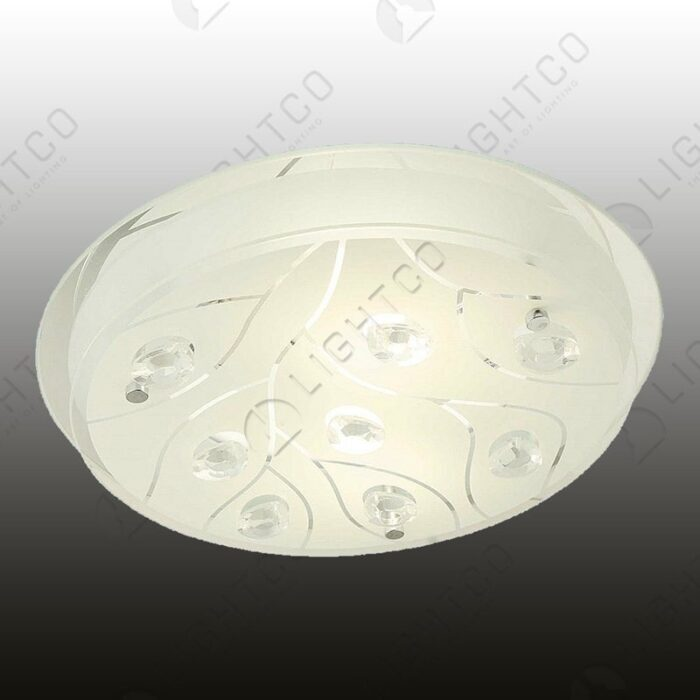 CEILING LIGHT ROUND LARGE FROSTED GLASS