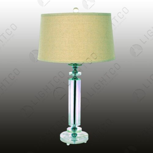 TABLE LAMP ACRYLIC + HESSIAN SHADE