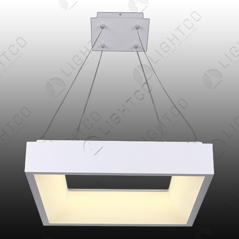 PENDANT SQUARE LED RING WHITE