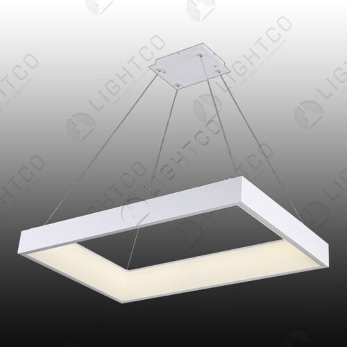 PENDANT RECTANGULAR LED RING WHITE