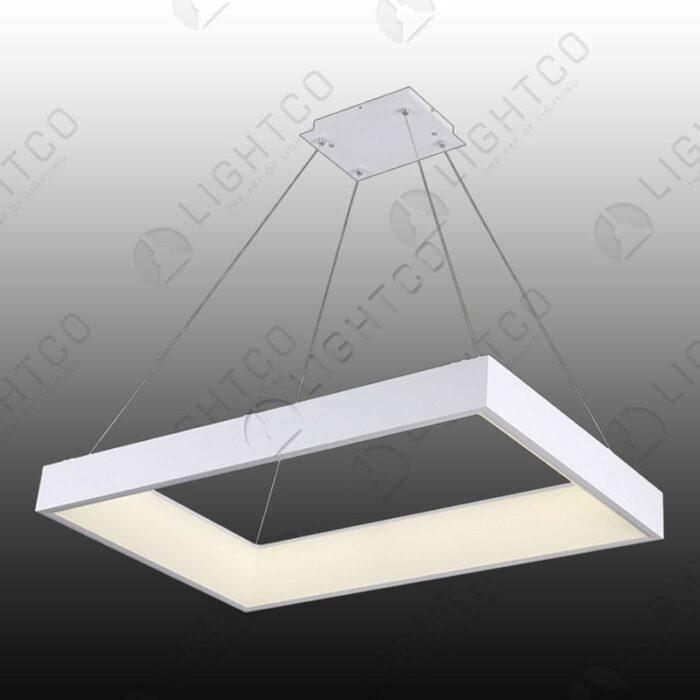 PENDANT RECTANGULAR LED RING WHITE