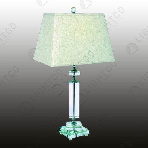 TABLE LAMP ACRYLIC + CREAM SHADE