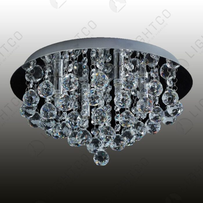 CEILING LIGHT CRYSTAL ROUND BASE REINA