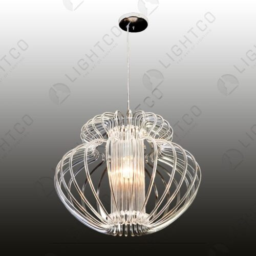 PENDANT FLOWER CHROME BASE