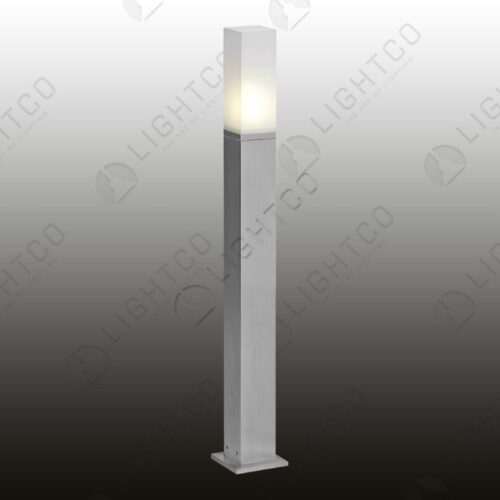 BOLLARD TALL SQUARE ALUMINIUM WITH BASE