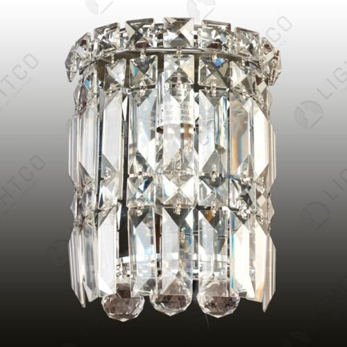 WALL LIGHT CRYSTAL SMALL HALF ROUND
