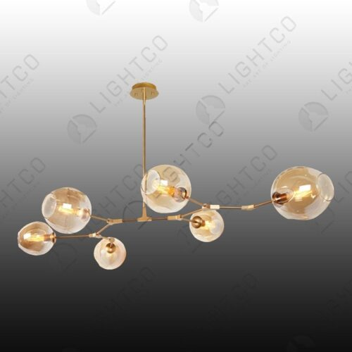 PENDANT 6 LIGHT MOLECULE LIGHT