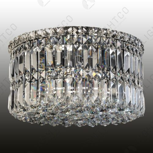 CEILING LIGHT ROUND LARGE COMPLETE WITH CRYSTALS
