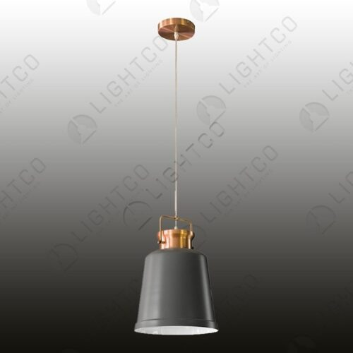 PENDANT METAL BUCKET DOME WITH HANDLE