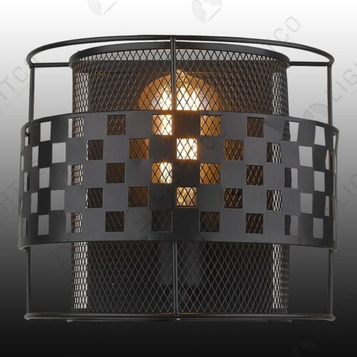 WALL LIGHT HALF MOON CAGE