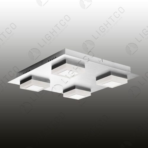 CEILING LIGHT SQUARE BASE WITH 4 LED CUBES