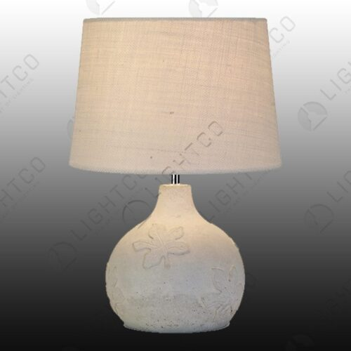 TABLE LAMP CEMENT LEAF DESIGN WITH SHADE