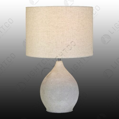 TABLE LAMP TEARDROP CEMENT WITH SHADE