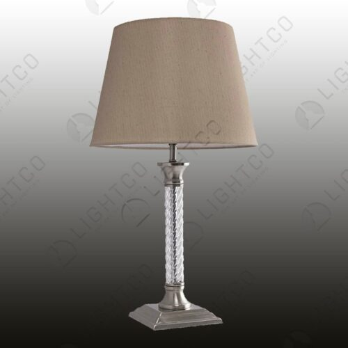 TABLE LAMP WITH ACRYLIC STEM INCLUDING SHADE