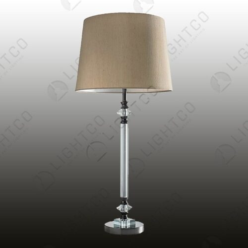 TABLE LAMP WITH CRYSTAL STEM INCLUDING SHADE