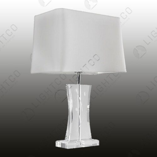 TABLE LAMP INCLUDING RECTANGULAR SHADE