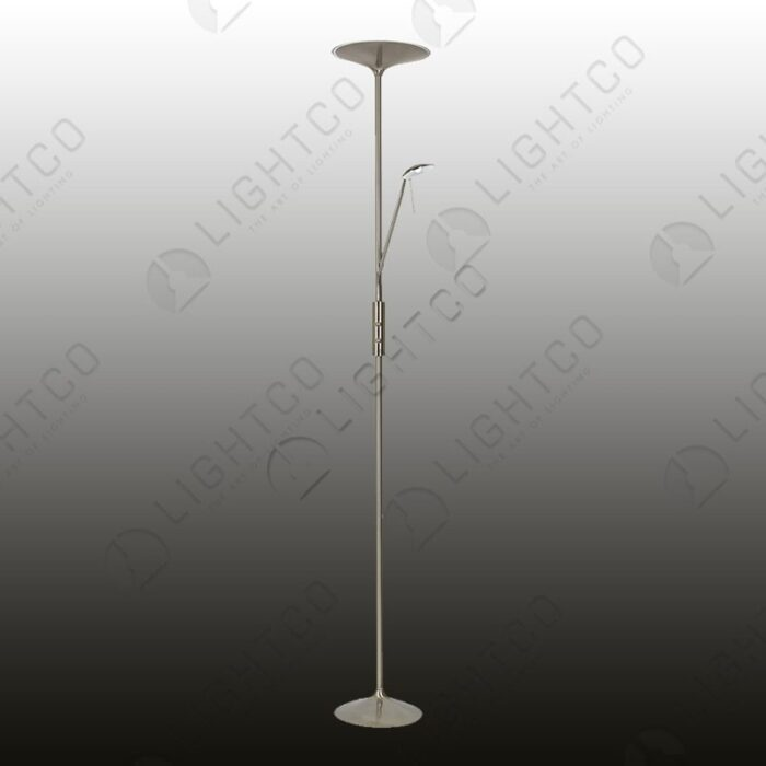 FLOOR LAMP LED UPLIGHTER WITH READER ARM