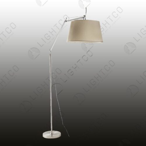 FLOOR LAMP WITH OVERHANGING SHADE