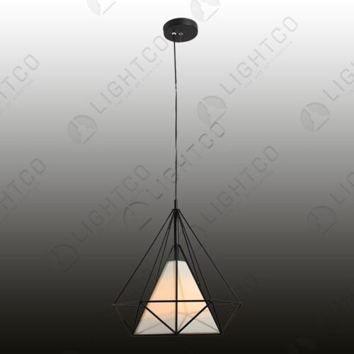 PENDANT WROUGHT IRON AND SHADE