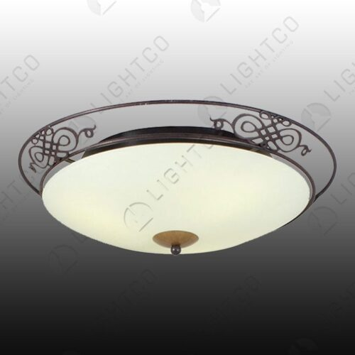 CEILING LIGHT ROUND ANTIQUE LARGE