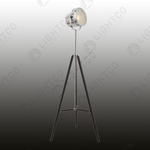 FLOOR LAMP TRIPOD POLISHED CHROME