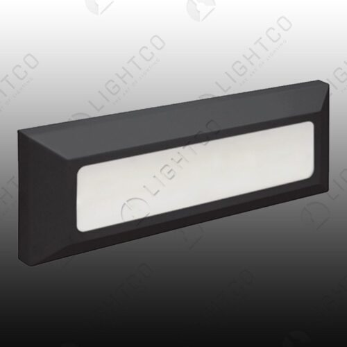 FOOT LIGHT SURFACE RECTANGLE PLAIN INCL DRIVER
