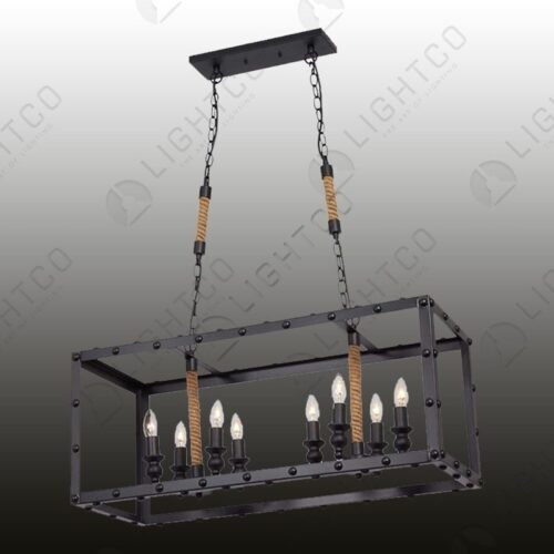 PENDANT RECTANGULAR DOUBLE WITH ROPE DETAIL