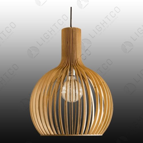 PENDANT LIGHTCO PLYWOOD ROUND LARGE