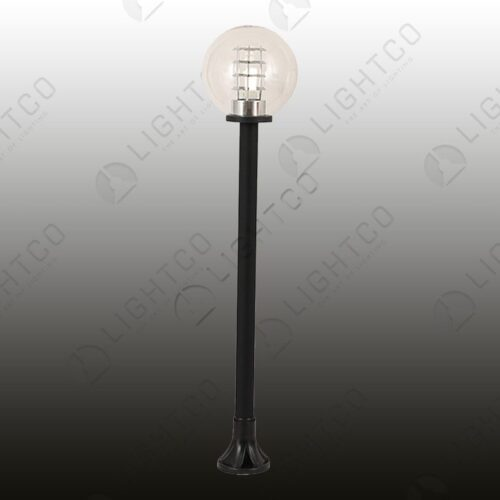 COMPLETE POLE SPHERE AND BASE CLEAR 300MM