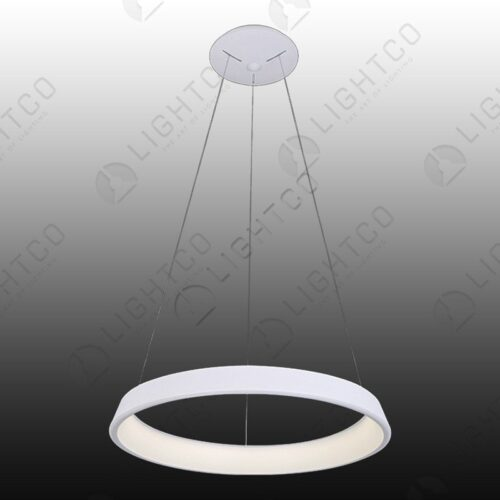 PENDANT ROUND LED RING CHROME