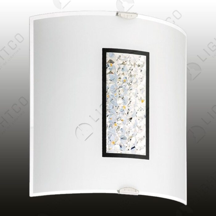 WALL LIGHT LED CURVED AND CRYSTAL