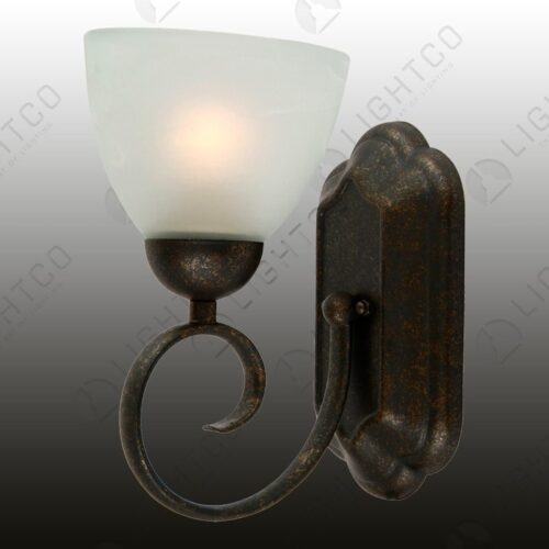 WALL LIGHT SINGLE WITH GLASS