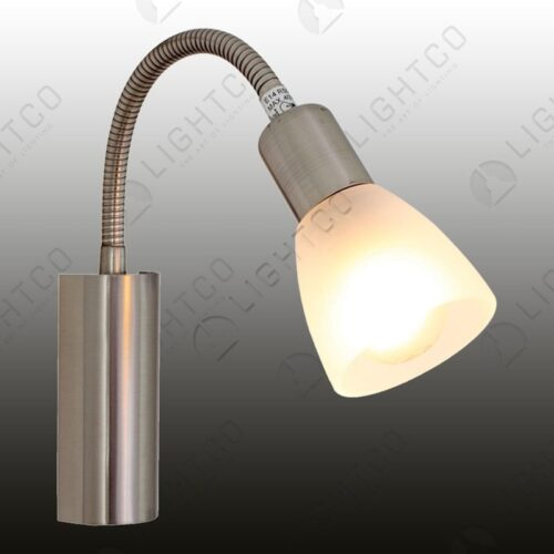 WALL LIGHT WITH GOOSE NECK AND SWITCH