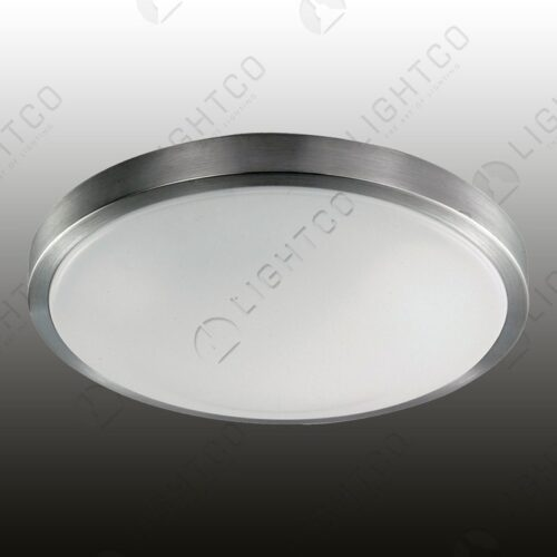CEILING LIGHT ALUMINIUM AND PLASTIC LENS SMALL