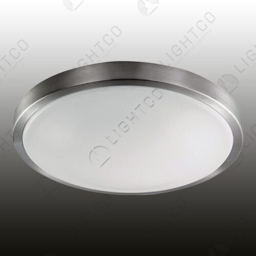 CEILING LIGHT ALUMINIUM AND PLASTIC LENS LARGE