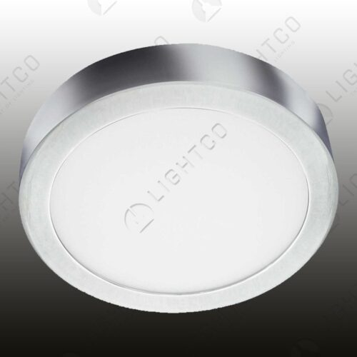 CEILING LED ROUND CHROME LARGE