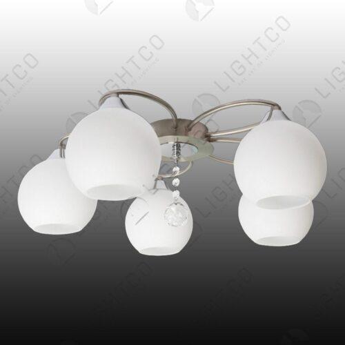 CEILING MODERN 5 LIGHT GLASS