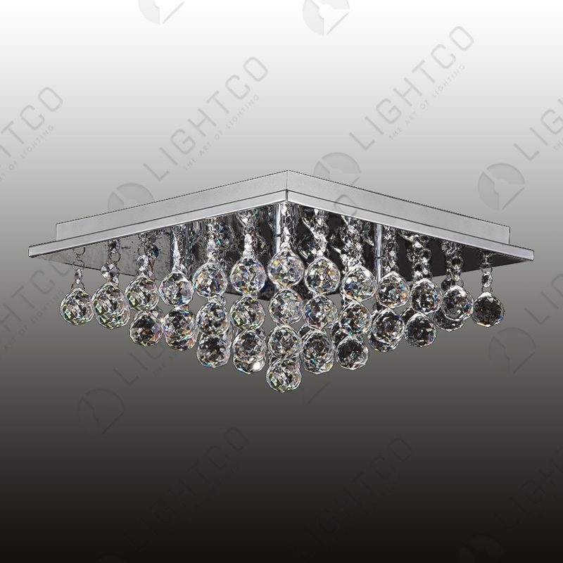 CEILING LIGHT SMALL CRYSTAL SQUARE BASE REINA