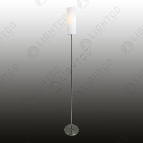 FLOOR LAMP WITH CYLINDRICAL GLASS