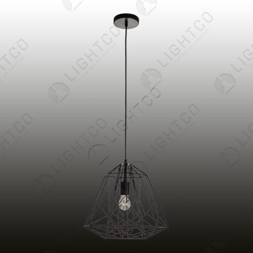 PENDANT WIRE CAGE SHARP ANGLES