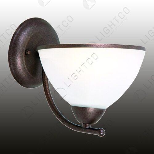 WALL LIGHT SINGLE ARM ALABASTER GLASS