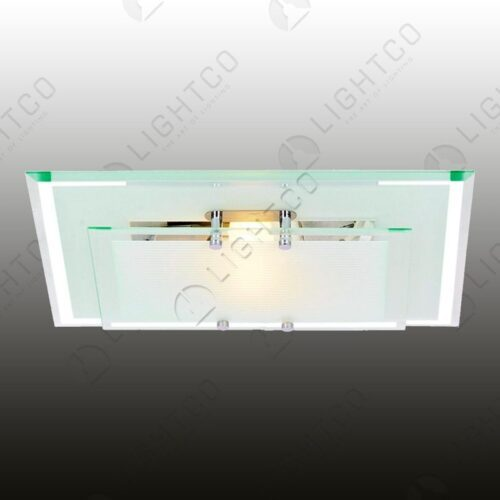 CEILING LIGHT RECTANGULAR DOUBLE GLASS