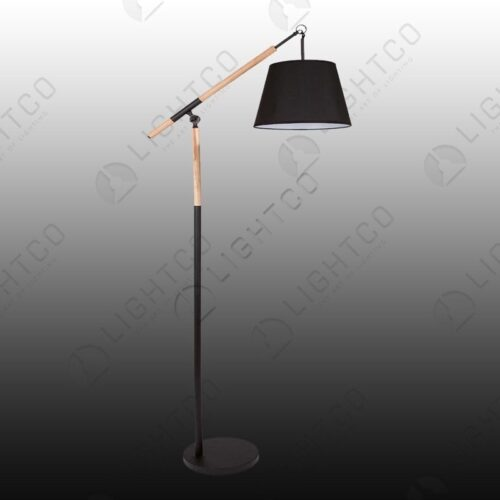 FLOOR LAMP STANDING WOOD METAL