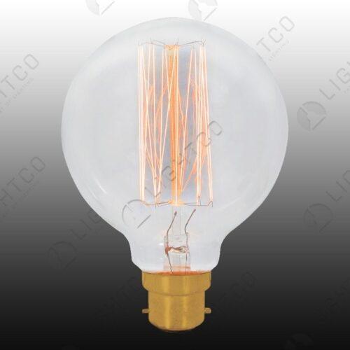 FILAMENT LAMP 60W B22 ROUND VINTAGE