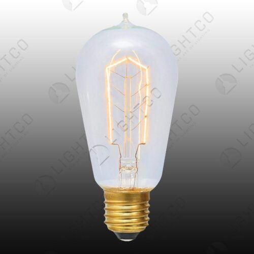 FILAMENT LAMP 60W E27 PEAR WITH NIPPLE HAIRPIN