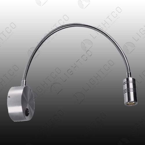WALL LIGHT LED FLEXI ARM ROUND BASE
