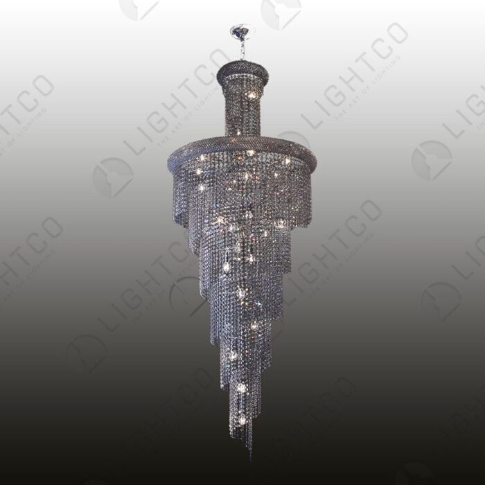 PENDANT K9 CLEAR CRYSTAL SPIRAL 2M