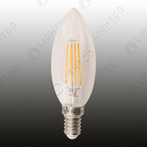 LED CANDLE 4W E14 CLEAR PLAIN BRIGHTSTAR